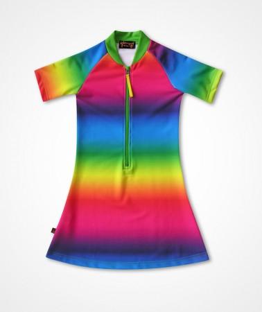 五分袖洋裝上衣*Dress彩虹 Rainbow*Solamigos無毒防曬衣