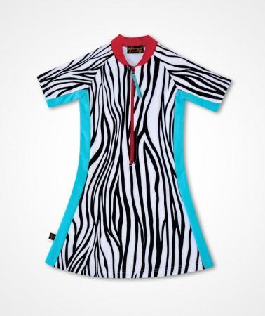 五分袖洋裝上衣*Dress Bikini 斑馬 Zebra*Solamigos無毒防曬衣
