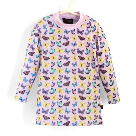 長袖上衣Shirt, long sleeve 紫蝴蝶 Butterflies*瑞典無毒防曬