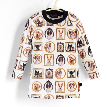 長袖上衣*Shirt, long sleeve 貓貓狗狗 Cats & Dogs*瑞典無毒