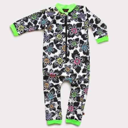 嬰兒長袖連身衣*UV Babysuit 扶桑花 Hibiscus*Solamigos
