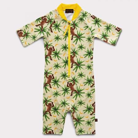 五分袖連身衣*Bodysuit 頑皮猴 Monkeymania*Solamigos