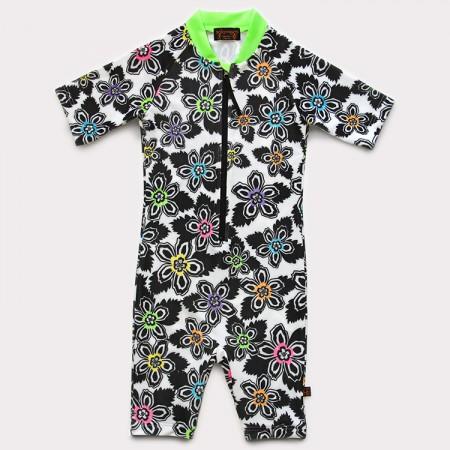 五分袖連身衣*Bodysuit 扶桑花 Hibiscus*Solamigos瑞典無毒防曬衣