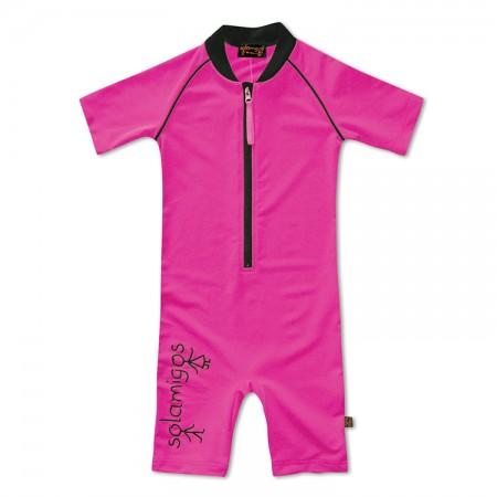 五分袖連身衣*鐵線蓮紫 Bodysuit Clematis*Solamigos