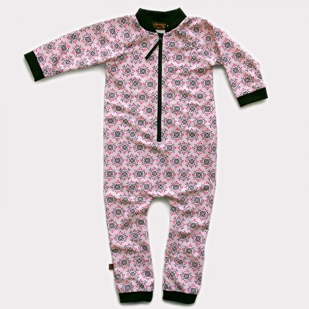 嬰兒長袖連身衣*UV Babysuit 玫瑰徽章 Rose Medallions*