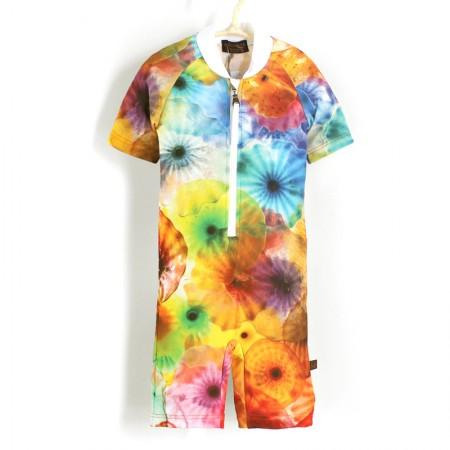 五分袖連身衣*Bodysuit 彩色水母 Jelly Fish*Solamigos