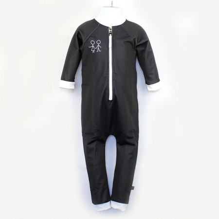 嬰兒長袖連身衣*UV Babysuit 黑色 Negro*Solamigos瑞典無毒