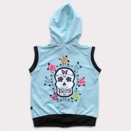 連帽背心*UV Hoodie 復古骷顱 Vintage Skull*Solamigos防曬