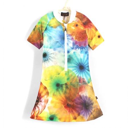 五分袖洋裝上衣*彩色水母 Jelly Fish*Solamigos無毒防曬衣