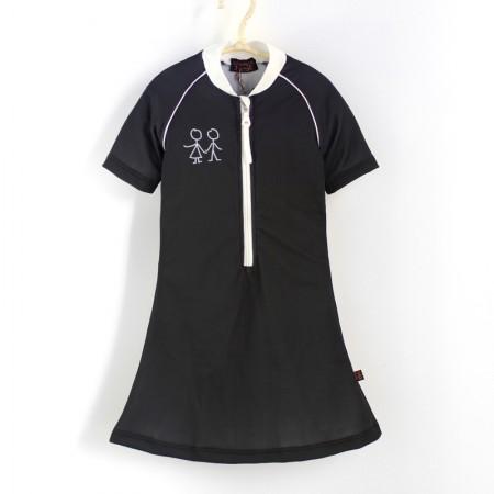 五分袖洋裝上衣*黑色 Negro*Solamigos無毒防曬衣