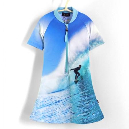 五分袖洋裝上衣*UV Dress 衝浪 Wave*Solamigos無毒防曬衣