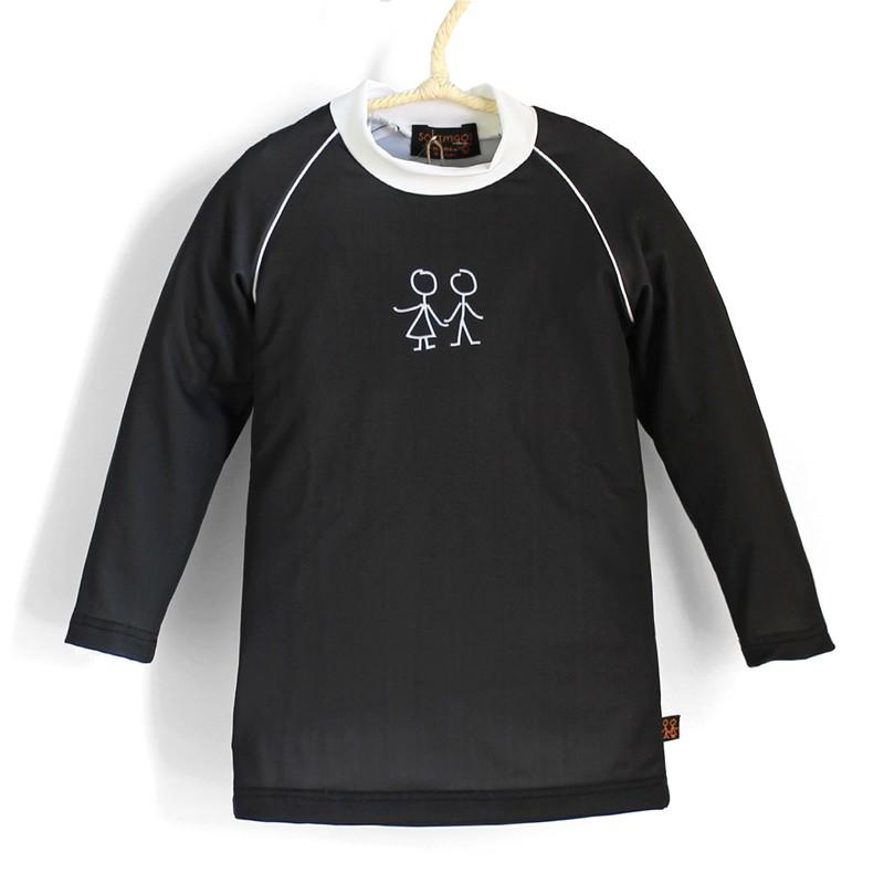 長袖上衣*Shirt, long sleeve 黑色 Negro*Solamigos防曬衣