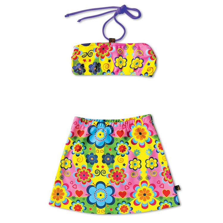 比基尼花花世界Dress bikini Flower Power*Solamigos防曬衣