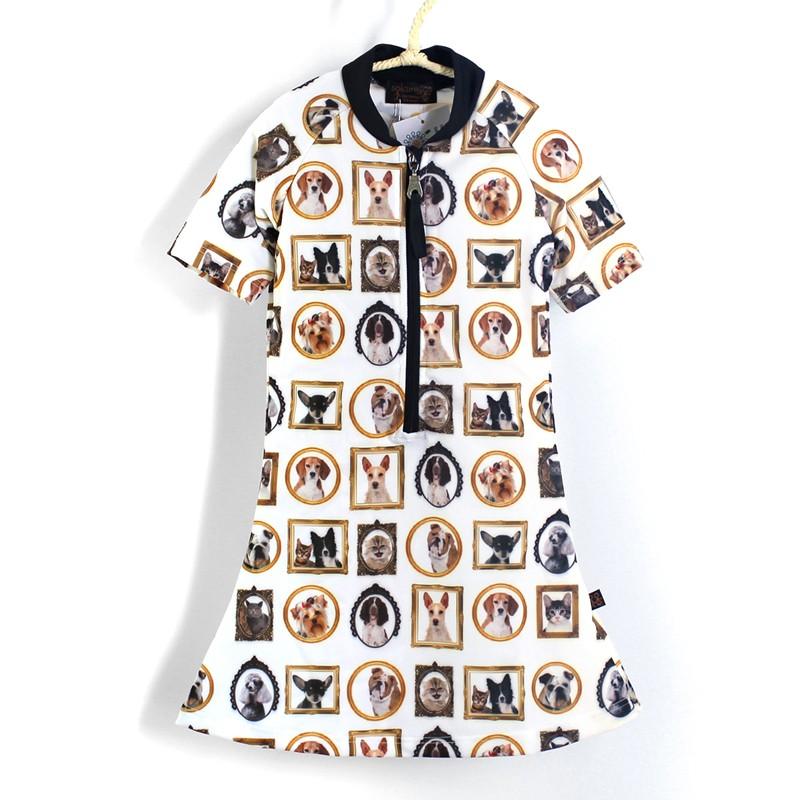 五分袖洋裝上衣* Dress 貓貓狗狗 Cats & Dog*Solamigos無毒防曬衣