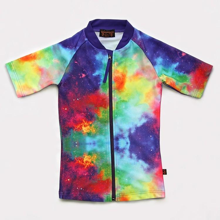 五分袖拉鍊上衣UV Top Zip 太空幻想 Space Fantasy*瑞典無毒防曬衣