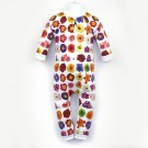 嬰兒長袖連身衣*UV Babysuit 非洲堇 Flowerm*Solamigos瑞典無毒