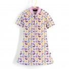 五分袖洋裝上衣*紫蝴蝶 Butterflies*Solamigos無毒防曬衣