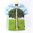 五分袖拉鍊上衣*UV Top Zip 大樹 Tree*Solamigos瑞典無毒防曬衣