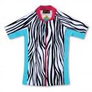 五分袖拉鍊上衣*Top Zip 斑馬 Zebra*Solamigos瑞典無毒防曬衣