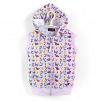 連帽背心* Hoodie 紫蝴蝶 Butterflies*Solamigos瑞典無毒防曬衣