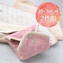 2件組日用量多 [28cm日用加長+36cm夜用安心] 櫻桃蜜貼 彩棉布衛生棉