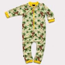 嬰兒長袖連身衣*UV Babysuit 頑皮猴 Monkeymania*Solamigos
