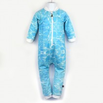 嬰兒長袖連身衣*UV Babysuit 水波 Aqua*Solamigos瑞典無毒