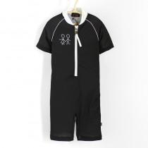 五分袖連身衣*Bodysuit 黑色 Negro*Solamigos瑞典無毒防曬衣