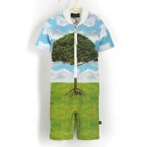 五分袖連身衣*Bodysuit 大樹 Tree*Solamigos瑞典無毒防曬衣