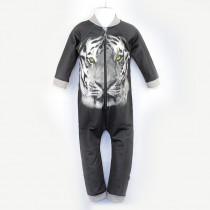 嬰兒長袖連身衣*UV Babysuit 老虎 Tiger*Solamigos瑞典無毒