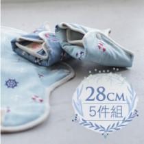 28cm日用加長*5件組 櫻桃蜜貼 彩棉布衛生棉 28cm daily long pad