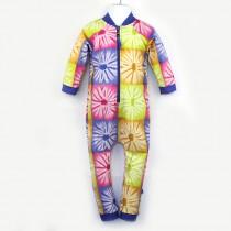 嬰兒長袖連身衣*UV Babysuit 非洲蠟染 Batik*Solamigos瑞典無毒