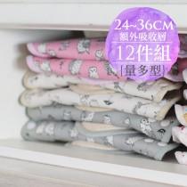 一次生理期12件組量多型 櫻桃蜜貼 彩棉布衛生棉