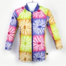 長袖拉鍊上衣(孩童&成人)*Top Zip long sleeve 非洲蠟染 Batik*