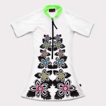 五分袖洋裝上衣*UV Dress 扶桑花 Hibiscus*Solamigos無毒防曬衣
