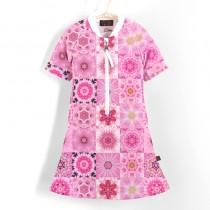 五分袖洋裝上衣*Dress 粉紅夢 Pink Dream*Solamigos無毒防曬衣